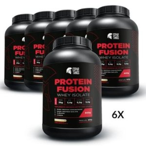 6X Protein Fusion Whey Isolate 900G - Kit Atacado Cx Fechada