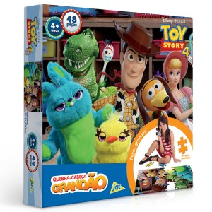 Quebra-Cabeça Grandão - 48 Peças - Disney - Toy Story 4 - Toyster