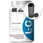 Glutamina L-g - 600g + Coqueteleira 600ml Preta - Max Titanium