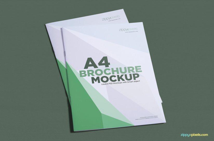Download Creative Free A4 Brochure Mockup PSDs