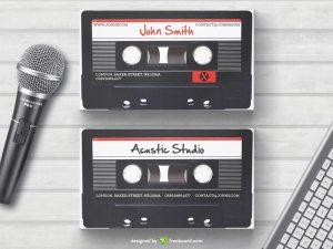 Retro cassette business card template