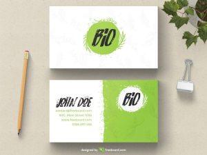 Green natural business card