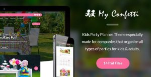 My Confetti - Kids Party Planner PSD Template