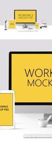 Creative Workspace Mockup PSD