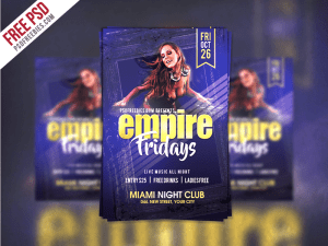 Creative Friday Party Flyer Template Free PSD