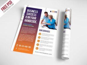 Creative Modern Agency Flyer Free PSD Template