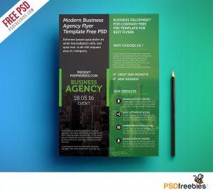 Creative Modern Business Agency Flyer Template Free PSD