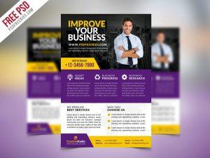 Creative Multipurpose Corporate Business Flyer PSD Template