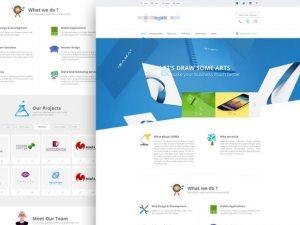 Creative Agency website template ‰ÛÒ PSD