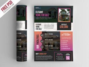 Creative Real Estate Flyer Template PSD