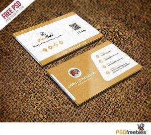 Creative Restaurant Chef Business Card Template Free PSD