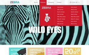 Creative Zebra: ecommerce website template PSD