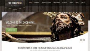 Creative The Good News ‰ÛÒ Church PSD Theme