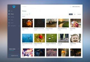 Creative Dropbox UI ‰ÛÒ Free PSD