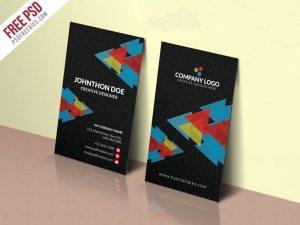 Creative Corporate Company Business Card PSD Template