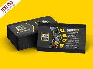 Creative Creative Black Business Card Template PSD