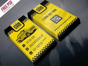 Creative Taxi Cab Service Business Card Template PSD