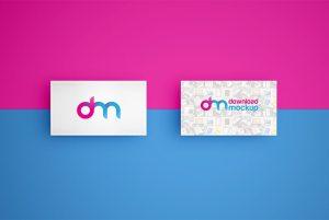 Creative Simple Business Card Mockup PSD