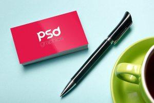 Creative Professional Business Card Mockup PSD