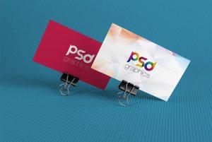 Creative Corporate Business Card Mockup Free PSD