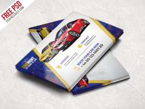 Creative Car Dealer Business Card Template Free PSD