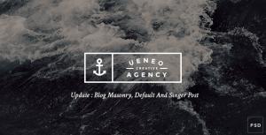 Ueneo - Creative One Page PSD Template
