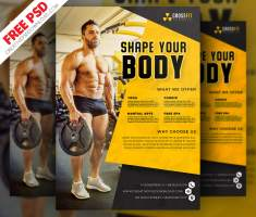 Fitness & Gym Flyer Template Free PSD