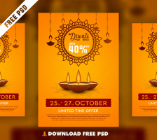 Diwali Free PSD Flyer Template