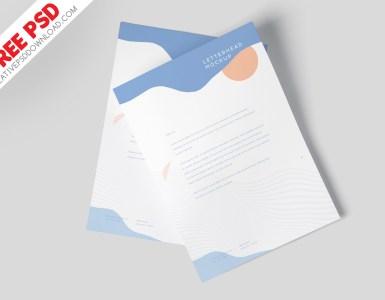 A4 Letterhead Mockup Vol-5 PSD