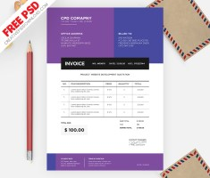 Invoice Template - Business Invoice Template Free PSD