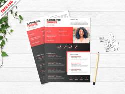 Creative Resume Template Free PSD