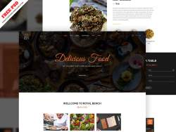 Creative Restaurant Web Template Freebie PSD Free Download