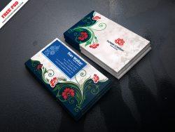 Flower Company Business Card Free PSD