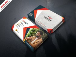 Corporate Graphic Designer Business Card Free PSD