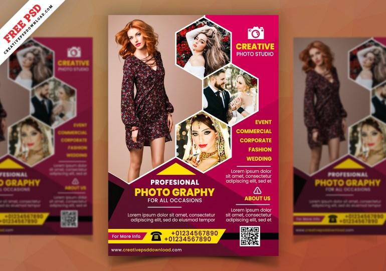 Photoshoot Studio Flyer Free PSD