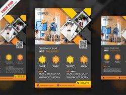 Creative Corporate Flyer Freebie PSD