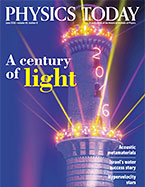 Physics Today Cover Feature