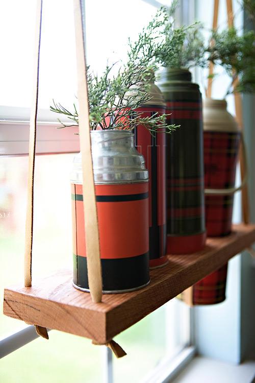Diy Hanging Vintage Thermos Display Shelf Gift Ideas
