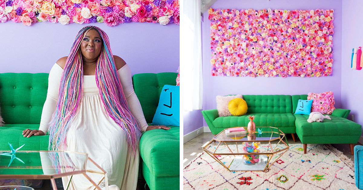 This Woman Has The Most Colorful Apartment Youve Ever
