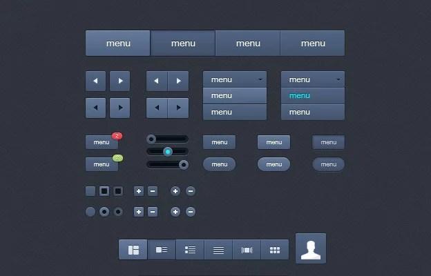 UI Kit 40+ Free Web Elements