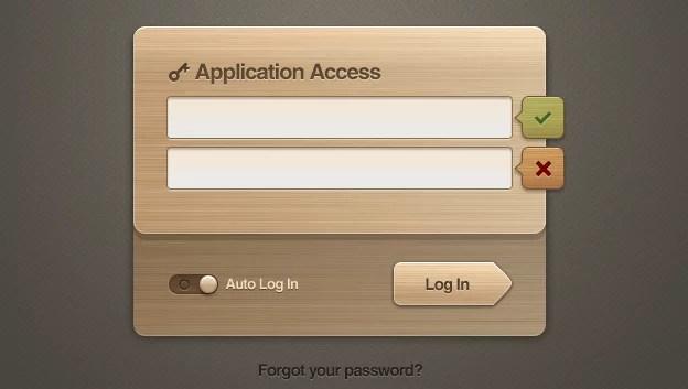 weeklypixels wooden ui login 01 e1359548717483 40+ Free Web Elements