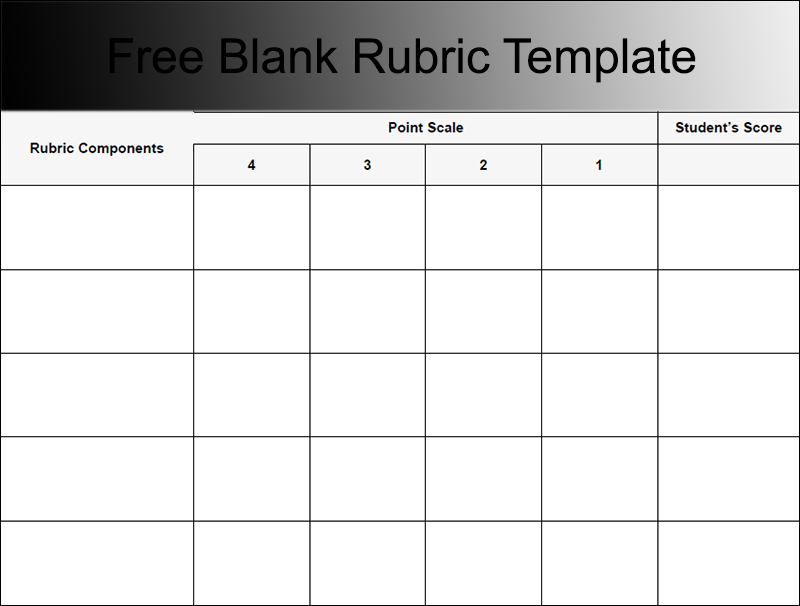 Basic Rubric Template blank rubric template 6 free printable pdf – Blank Rubric Template