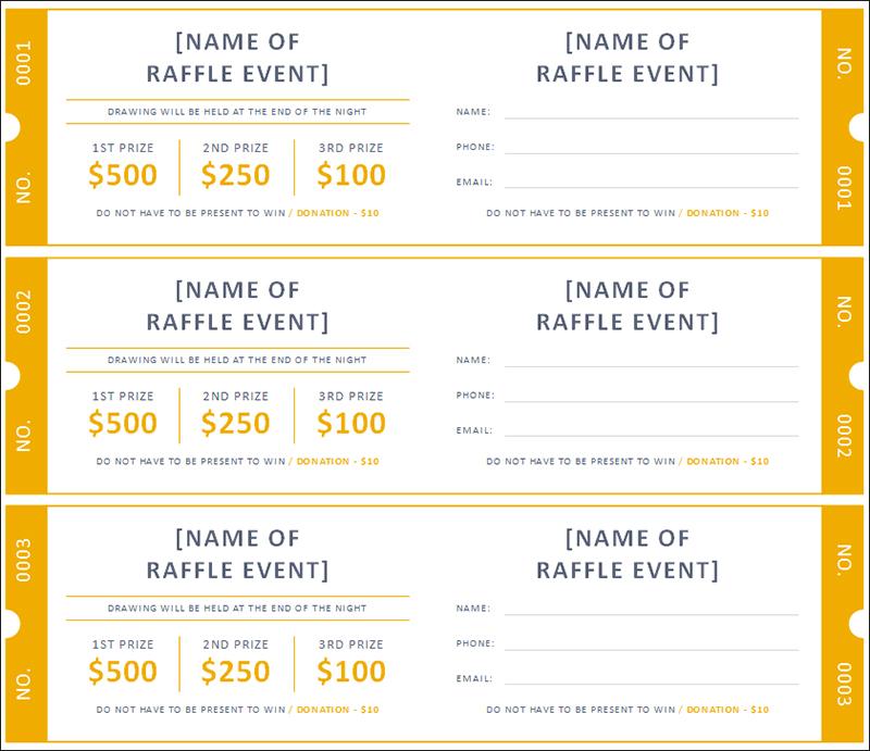 Sample Ticket Template. raffle ticket format raffle ticket ...