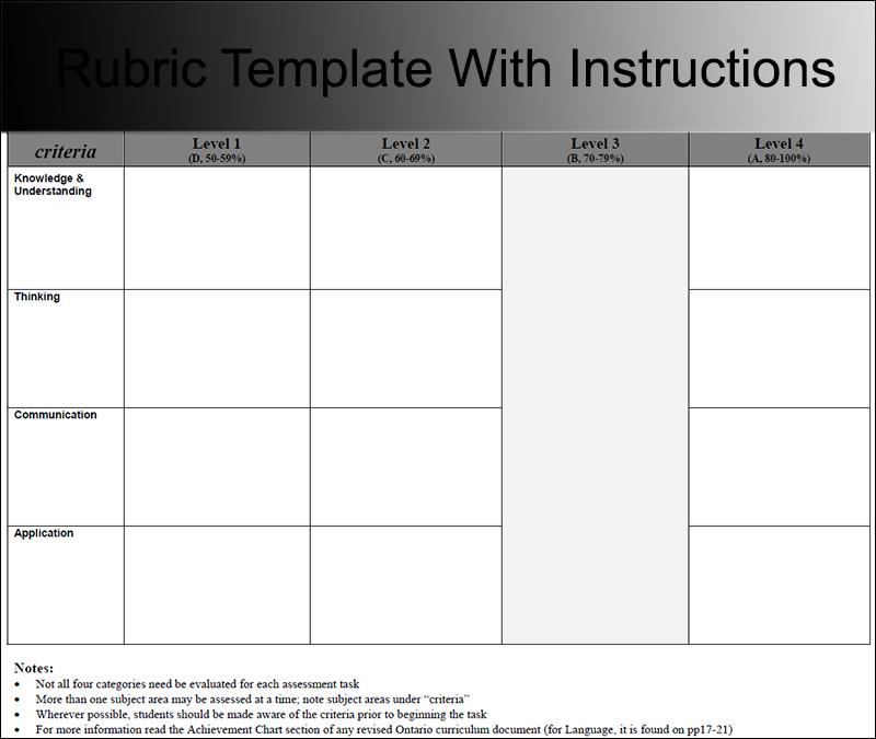 Blank Rubric Template Word becomingamerica lp2 11 printable – Blank Rubric Template