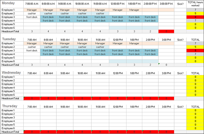 Printable Daily Schedule Template Free Daily Schedule Templates