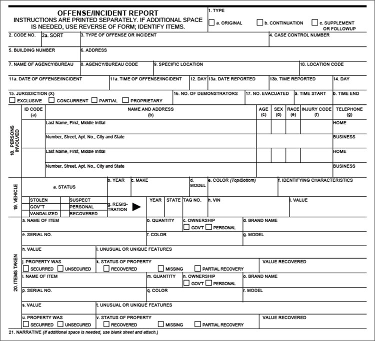 Police Report Template Free sample police report 7 documents in – Sample Police Reports
