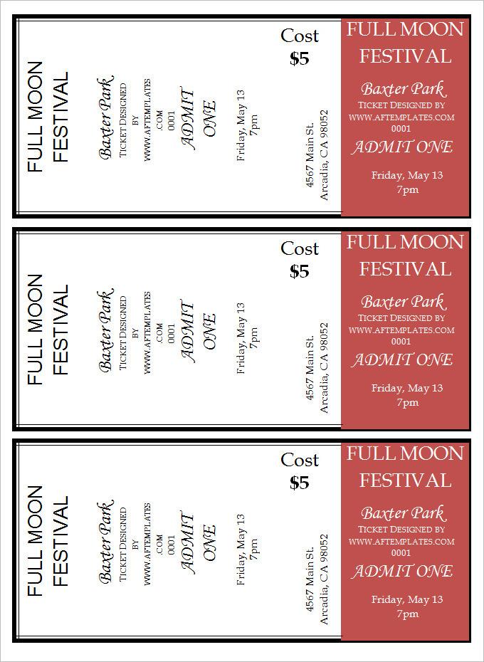 Printable Movie Ticket Template printable ticket clipart clipart – Movie Ticket Invitations Printable Free