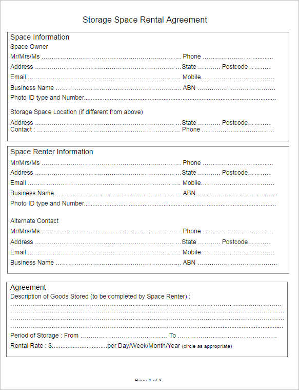 Space Rental Agreement Template Free Facility Event Space