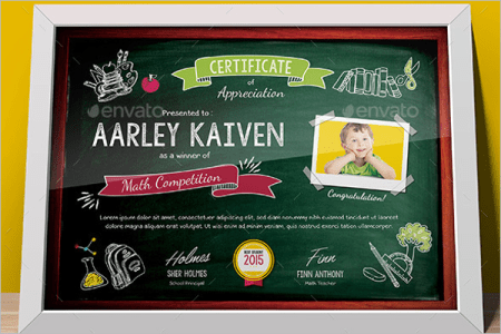 Kids Certificates Templates Free   Premium Templates Kids Performance Certificate Template