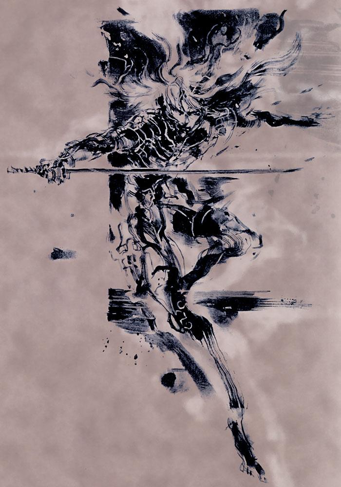 Raiden Illustration Metal Gear Solid 2 Sons Of Liberty